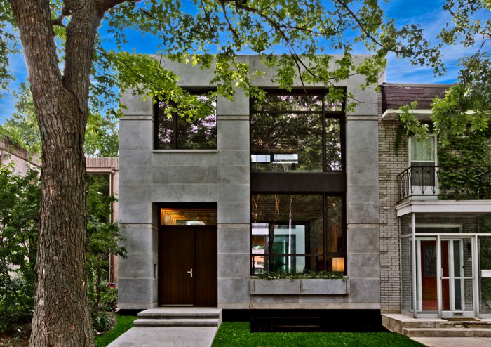 «Зеленый» дом с современным дизайном